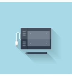 Flat web iconGraphic painting tablet vector image