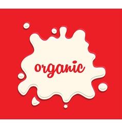 milk splodge red background vector image vector image