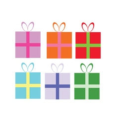 package gift in colorful vector image