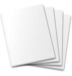 Blank covers mockup magazine template on white vector image