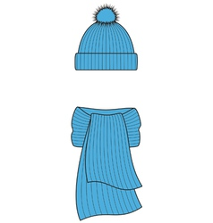 Cap and scarf vector