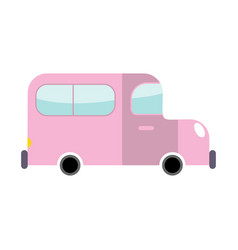 car pink isolated transport on white background vector image vector image