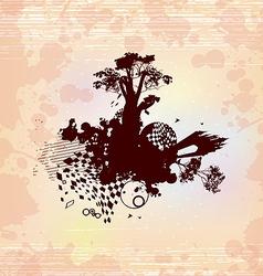 Castle Fantasy Concept Background vector image