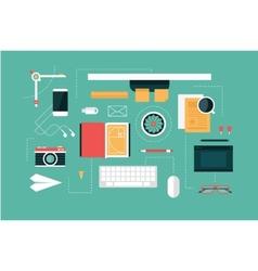 designer desk header vector image