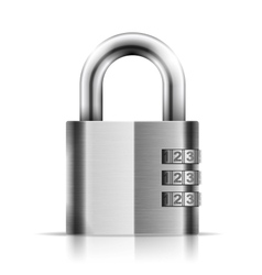 Steel Closed Isolated Padlock vector image