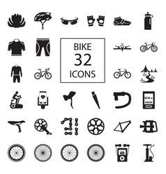 bike 32 icons vector image vector image