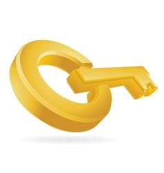 golden key vector image