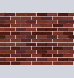 red brick wallpaper vector image vector image
