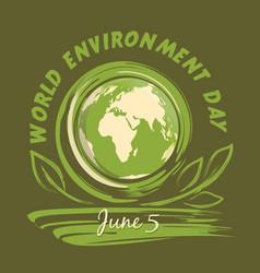world environment day logo design 5 june vector image vector image