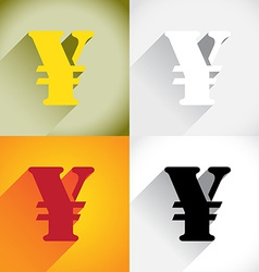 Yen currency symbol vector image vector image