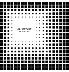 Abstract Halftone Square Background vector image