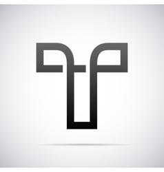 logo for letter T Design template vector image