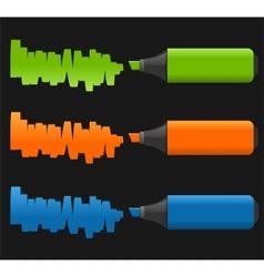 set of highlighter pens vector image
