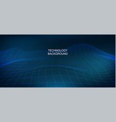 3d background big data visualization design vector image