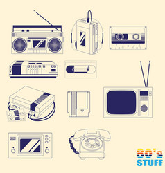 80 stuff version 1 outline style vector