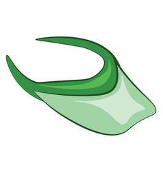 A green visor or color vector