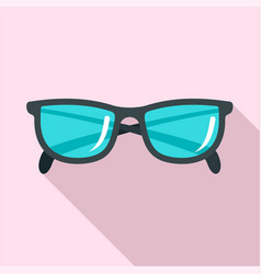 accounting glasses icon flat style vector image