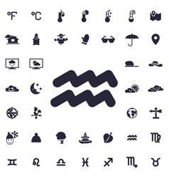Aquarius icon vector