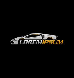 auto logosport car logo design concept template vector image