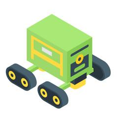 Autonomous farm robot icon isometric style vector