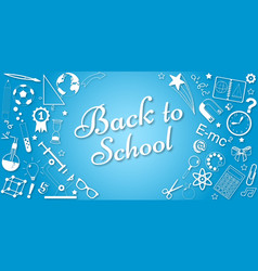 Back to school concept banner poster vector
