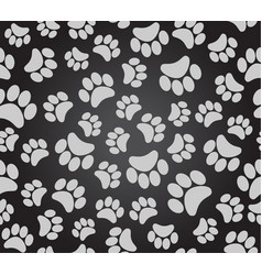 background animal footprints dog paw puppy paw vector image