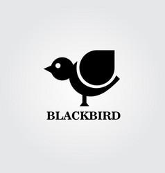 black bird logo vector image