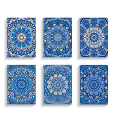blue cards for happy new year greetings vector image