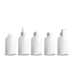 bottles and containers for cream and body lotion vector image