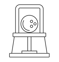 bowling ball icon outline style vector image