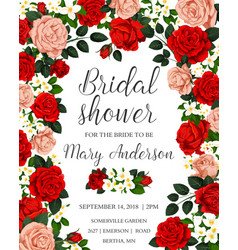 bridal shower colorful template vector image