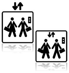 Business elevator vector