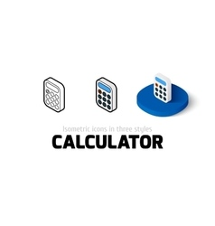 Calculator icon in different style vector