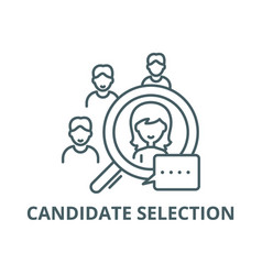 Candidate selection line icon candidate vector