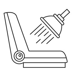 car chair cleaning icon outline style vector image
