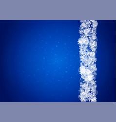Christmas border with white snowflake vector