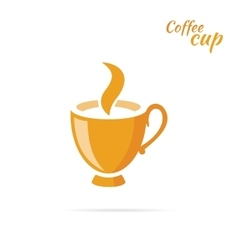 Coffee Cup Logo Design Flat Isolated vector image