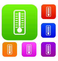 Cold thermometer set collection vector