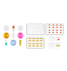 collection oval round and capsule shaped vector image