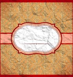Crumpled vintage frame vector image