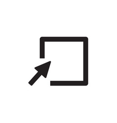 cursor arrow clicking empty box icon vector image