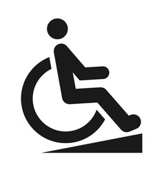 disabled person black icon wheelchair silhouette vector image
