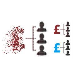 Dispersed pixel halftone pound recipients icon vector
