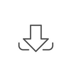 Download arrow line icon down arrowhead vector