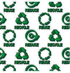 ecology protection seamless pattern vector image