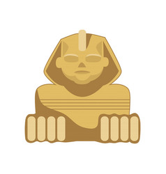 Egyptian sphinx statue symbol of ancient egypt vector