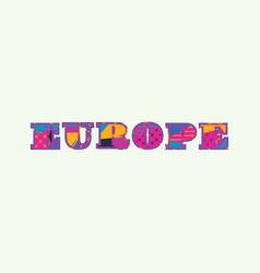 europe concept word art vector image