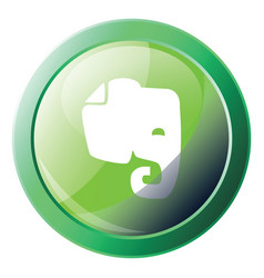 evernote green icon on a white background vector image