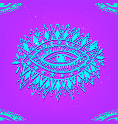 Eye pattern ornamental hand vector