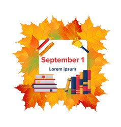 first september flat banner vector image